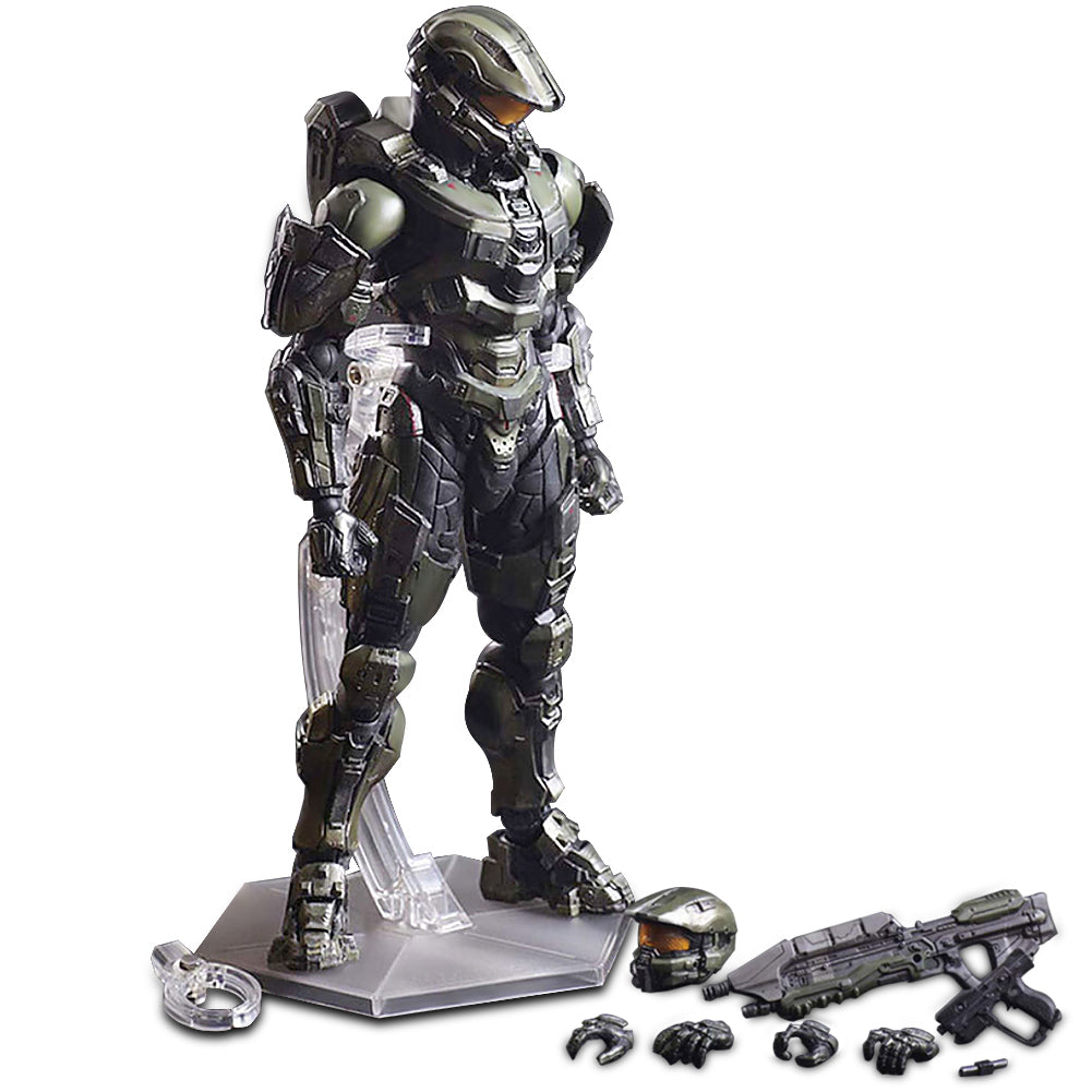 26cm Play Arts KAI HALO 5 Guardians No 1 Master Chief PVC Action Figure  Collectible Model Toy