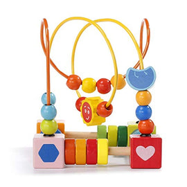 Baby Toys for 1 Year Old Bead Maze Wooden Educational Toddlers Toys for 2 3 4-5 6 Year Old Boys Girls Children