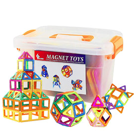 Camandetoy 64pcs Magnetic Blocks, Building Blocks, Magnetic Toy for Girls & Boys Deluxe Set