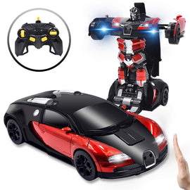 Cars Robot for Kids Remote Control Car Transformers Gesture Sensing Toys with One-Button Deformation and 360°Rotating Drifting Scale Best Gift