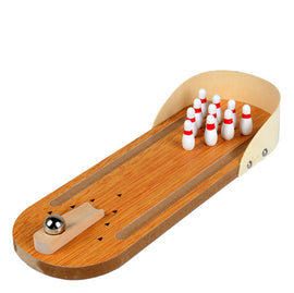 Mini Bowling Game,Mini Wooden Tabletop Bowling Game for Kids and Adults