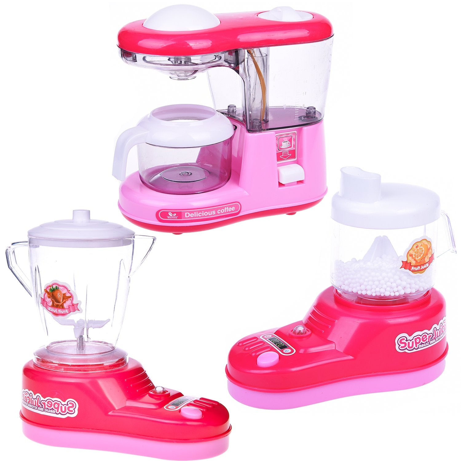 Kitchen Toy Appliances for Girls, Juice Maker, Blender, Coffee Maker, Play  Kitchen Accessories for Toddlers and Kids, 3 + Year Old Girl Gifts