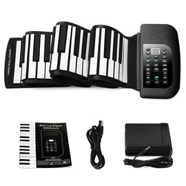 88-Keys Roll Up Piano,Upgraded Portable Rechargeable Electronic Hand Roll Piano