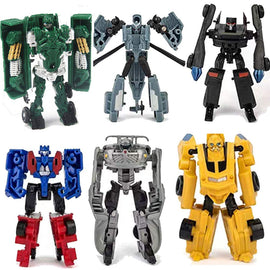 6 PCS Transformer Toy, Robot Transformer Action Figure, Robots and Vehicles Play Set  Mini Heroes Rescue Toy Car Robot Set for Kids Toys