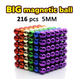 216 Pcs 5MM Magnets Cube Building Blocks Magnetic Toys Colorful Buildable Sculpture Toy for Stress Relief Gift for Adults