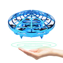 Camande Hand Operated Drones Hands Free Mini Drone Helicopter, Easy Indoor Small Orb Flying Ball Drone Toys for kids(Blue)