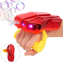 Handheld Bubble Machine with Light, Automatic Arm Bubble Blower Bubble Maker 2000 for Kids1-5 Year Old