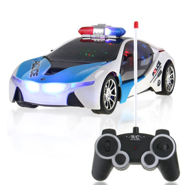 RC Concept Police Car 1:16 Scale Full Function Remote Radio Control - Flashing Lights + Sounds