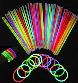 Glowsticks, 100 Light up Toys Glow Stick Bracelets Mixed Colors Party Favors Supplies (Tube of 100)
