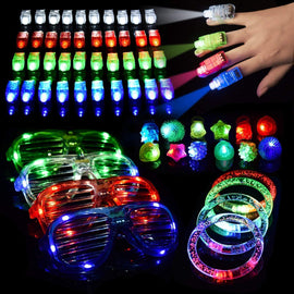 60pcs LED Light Up Toys Glow in The Dark Party Supplies, Glow Stick Party Pack for Easter Egg Fillers, Easter Basket Stuffers