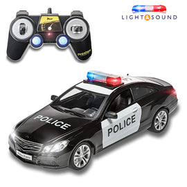 RC Police Car Remote Control Police Car RC Toys Radio Control Police Car Great Toys for Boys Rc Car with Lights and Siren for 5 Year Old Boys and Up