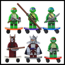 Ninjago 6PCS/Sets Ninja Heroes Figures Toys For Children Turtle  Building Blocks  NO BOX