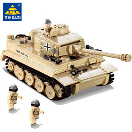 995Pcs German King Tiger Tank Building Blocks Sets Military WW2  Army Soldiers DIY Bricks Toys for Children