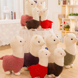 Shujin Innovative Wool Felt Cute Sheep Shape Children's Room Decoration Ornament Soft Toys Dolls Kawaii Sheep Alpaca Plush Toy