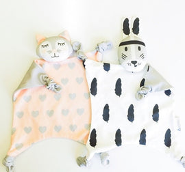 Soft Newborn Baby Velvet Rabbit Sleeping Dolls Bunny giraffe Play Security Kids fashion Toy Towel Bib INS for Xmas gift
