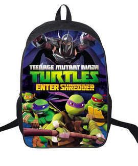 16 Inch Teenage Mutant Ninja Turtles Cartoon Children Backpack Student School Bags Mochila for Teenage Kids Boys Girls Gift