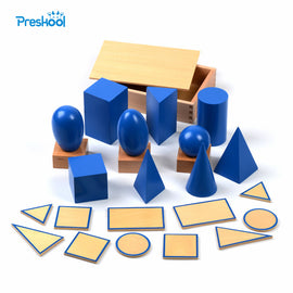 Baby Toy Montessori Geometric Solids with Stands Bases and Box Early Childhood Education Kids Toys Brinquedos Juguetes