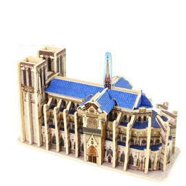 3D Wood Puzzles Cubic Wooden Puzzle World's Building Blocks Construction Kids Educational Toys Gift Notre Dame de Paris