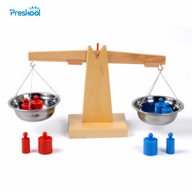 Baby Toy Montessori Wooden Balance Beam Weighing Scale Sensorial Early Childhood Education Preschool Training Great Gift