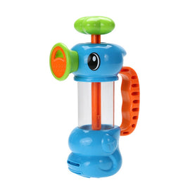 Baby Bath Pumping Toy Colourful Cute Hippocampal Shape Kids Bathing Tub Playing Water Gun Toy Bath Pump Faucet Toy