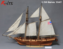 RealTS 1/50 classic wooden sailing ship Harvey 1847 wooden kit model