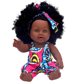 African black baby doll reborn girl 12inch yellow boneca corpo inteiro de silicone reborn baby dolls pop lifelike  children