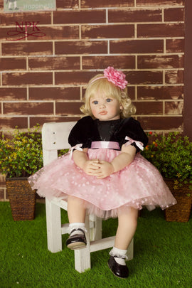 NPK 60cm Silicone Vinyl Reborn Baby Doll Toys Lifelike Fashion Baby Girls Birthday Gift Princess Dolls Collection Play House Toy