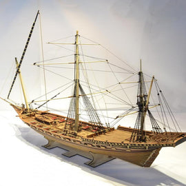 Misticque model ship wood