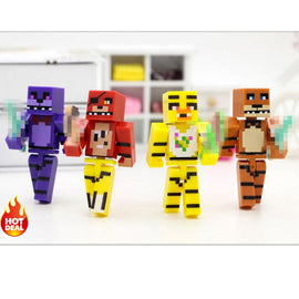 Minecraft Toys Figures 4pcs/set Five Nights At Freddy's 4 FNAF Foxy Chica Bonnie Freddy Action Figures Kid Toy Gifts #E