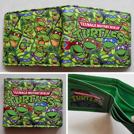 Anime Teenage Mutant Ninja Turtles TMNT  wallets Purse Green  Leather W110