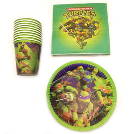 60pcs/lot Happy Birthday Ninja Turtles Theme Party Plates Decoration Glass Cups Kids Favors Plates Dishes Baby Shower Napkins