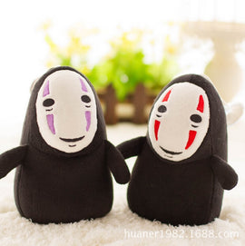 15cm Spirited Away No Face Ghost Kaonashi Plush Faceless Man Doll Pendant Toy Keychain Plush Pendant Gifts