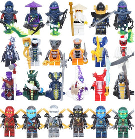 Camandetoy 24pcs  Ghost Evil Ninja Pythor Chop'rai Mezmo Serpentine Army Figure Building Block Toy Education Toy