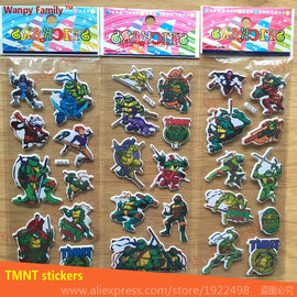 6 Pcs/Set Teenage Mutant Ninja Turtles wall stickers Superhero characters DIY Mini Stickers for Kids gift Decoration Stickers