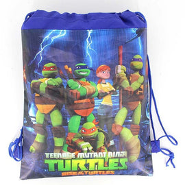 Baby Shower Non-woven Fabric Kids Favors Ninja Turtle Backpack Mochila Decoration Birthday Party Drawstring Gifts Bags 34*27cm