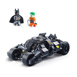 Camandetoy Super heros Batmobile Car Batman Joker Model Building Blocks Brick Educational Toys for Kids Christmas Gift
