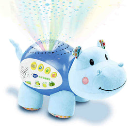 Baby hippo sleep instrument comfort doll sleep projection baby toys