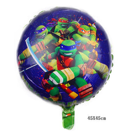 1PC 18-inch round Teenage Mutant Ninja Turtle Foil Balloons birthday party decorations kids toy Supplies globos
