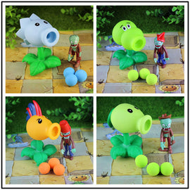 Camandetoy 4 Sets of Combination 32 style Plants vs Zombies Toy Figurine Pea Sunflower Melon toy