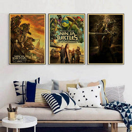 Teenage Mutant Ninja Turtles Megan Fox Stephen Amell Vintage Paper Poster Wall Painting Home Decoration 42X30 CM 30X21 CM