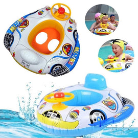 1pc Cartoon Inflatable Pool Toys Baby Inflatable Swimming Toys Child Swim Seat Float Boat Water Sport Toys Summer Accessories