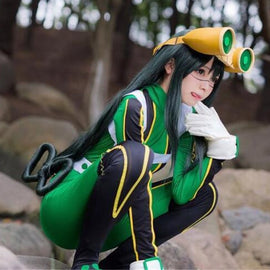 My Boku no Hero Academia Asui Tsuyu Wig Cosplay Costumes Men Women Heat Resistant Long Straight Hair Halloween Wigs