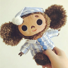 Russia Cheburashka Big Ear Monkey plush toys for Children Big eyes Long Plush stuffed Animals Monkey dolls for boys girls gift