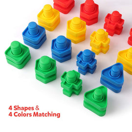 Nuts and Bolts Set Building Construction Toys 32PCS Occupational Therapy Tools Toy Matching Fine Motor Skills for Toddlers Baby