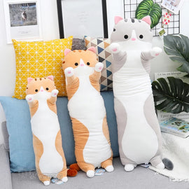 Plush Animals Cat Pig Creative Long Soft Gift Creative Office Lunch Break Nap Sleeping Pillow Cushion Plush Stuffed Gift Doll