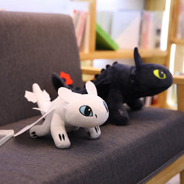 35cm Toothless light Fury  Anime Figure Night Fury Dragon Plush Doll Toys Toys