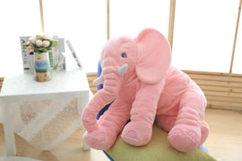 VIP LINK 40cm/60cm Height Large Plush Elephant Doll Toy Kids Sleeping Back Cushion Cute Stuffed Elephant Baby