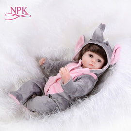NPK Bebes Reborn Dolls de Silicone Girl Body 43cm elephant adora Doll Toys For Girls boneca Baby Bebe Doll Best Gifts toys