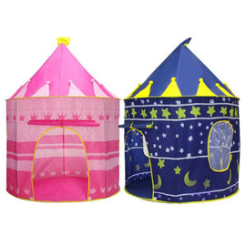 Summer Tent Portable Foldable Tipi Prince Tent Children Boy Castle Play House Outdoor
