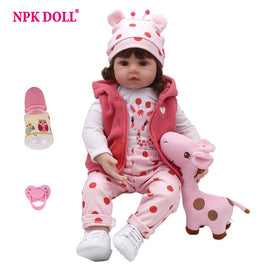 NPKDOLL Baby Reborn Doll Latest New Silicone Boneca Adorable menina Lovely 45cm soft vinyl surprise christmas gift kids lol